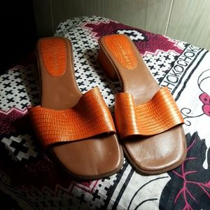 Bandolino Orange slides